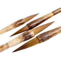 High-grade Shanlian Hubi Fine Chinese Calligraphy Brush Sumi Brush Set for Beginner Watercolor Drawing Kanji Brush Set Pure Wolf Hair(Weasel)