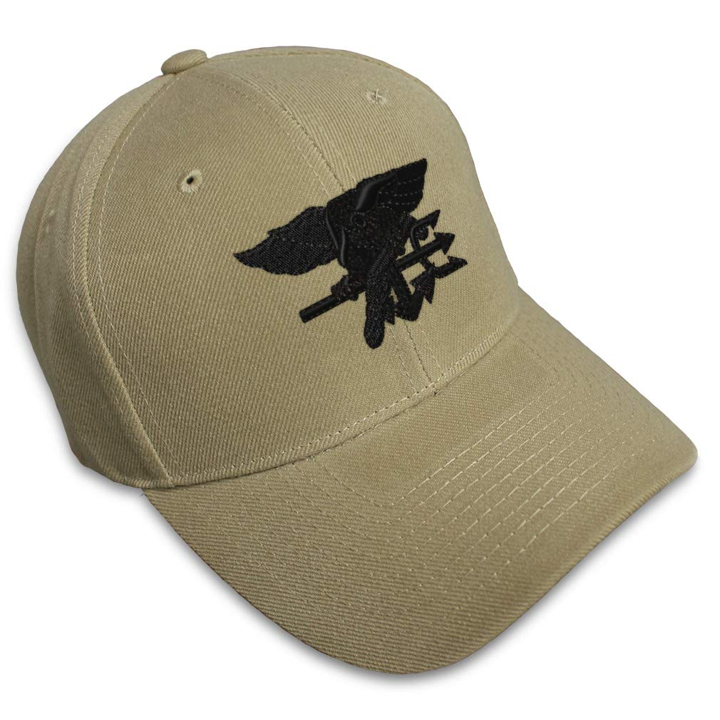 Custom Baseball Cap Navy Seal Black Logo Embroidery Dad Hats for Men & Women