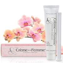 Crème De La Femme 1-Pack, Vaginal Dryness Cream Created by a Woman Doctor, Natural Menopause Dryness Remedy, Feminine Moisturizer and Lubricant, Free Applicator Included