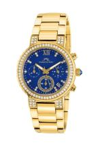 Porsamo Bleu Women's 502BPIS Pilar Gold Tone/Blue Stainless Steel Watch