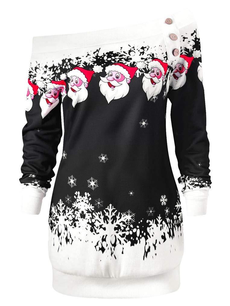Seazoon Women Vintage T Shirt Off Shoulder Long Sleeve Cute Tunic Blouse for Women