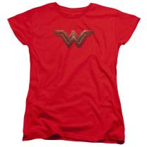 Wonder Woman Movie Logo DC Comics Women's T Shirt & Stickers