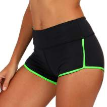 DIELUSA Women Gym Shorts Booty Workout Spandex Tight Shorts for Athletic Running Yoga