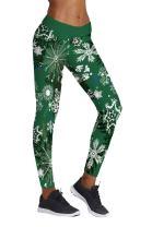 COCOLEGGINGS Womens Digital Print Ugly Christmas Sweater Leggings Footless