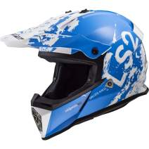 LS2 Helmets MX-Off Road Fast V2 Helmet (Spot Blue - X-Small)