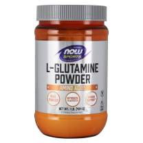 NOW Sports Nutrition, L-Glutamine Pure Powder, Nitrogen Transporter*, Amino Acid, 1-Pound