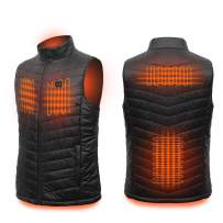 Loowoko Men's Lightweight Electric Heated Vest with Battery Pack for Hiking Skiing Fishing