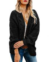 Plus Size Womens Cardigan Sweaters Cable Knit Chunky Oversized Long Sleeve Fall Winter Cardigans