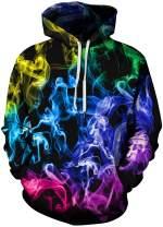 Chaos World Men's Novelty Hoodie Realistic 3D Print Pullover Unisex Casual Sweatshirt