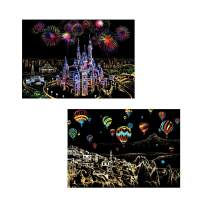 Diamond Painting Kits for Adults Kids,2 Pack 5D DIY Night Scene Diamond Art Accessories with Round Full Drill for Home Wall Decor - 15.7×11.8Inches