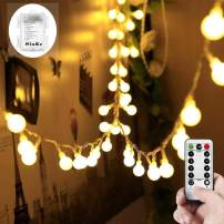 NinKe Battery Operated Globe String Lights, 33ft 100 LEDs Fairy Lights with Remote Control for Outdoor/Indoor Trees,Garden,Party,Christmas,Holiday[8 Modes,Timer]