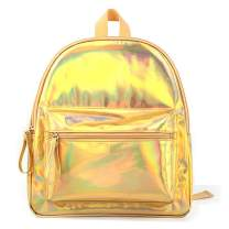 Holographic Laser Girl's Bag School Bookbag PU Leather Backpack Travel Casual Daypack