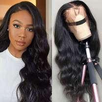 NOBILITY Hair Brazilian 10A Body Wave Lace Front Wigs Human Hair 100% Unprocessed Virgin Human Hair 13x4 Lace Frontal Wigs with Baby Hair for Black Women Natural Hairline (20inch)