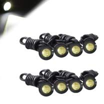 HOTSYSTEM Eagle Eye LED Light Bulbs 9W DC12V 18mm for Off-Road Car ATV Camper Trunk Motorcycle Day Time DRL License Plate Turn Signal Stop Parking Tail Reverse Fog Trunk Backup Light (White,8-Pack)