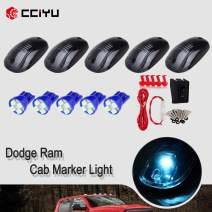cciyu 5x Smoke Cab Clearance 822072AC Marker Light + Ice Blue 4-3528-SMD 194 168 LED Bulbs w/T10 plug socket + 1 Set Wiring Pack Switch Assembly Wire Harness For 2012-2016 Dodge Ram 2500 3500