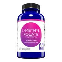 MD. Life L-Methylfolate 5mg – Active Folate 5-MTHF, Professional Strength Methyl Folate - Immune Support, Essential Amino Acids Vegan Gluten-Free - 60 Purple Carrot Capsules