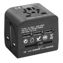 Universal Travel Electrical Adapter 3 USB Ports International Power Converter Wall Charger for Cell Phone Laptop AC Adaptor with USA EU UK AUS Plug