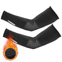 ROCK BROS Thermal Arm Warmer for Men & Women Arm Sleeves for Cycling Running