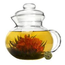 Primula Blossom Glass Teapot, 1 Flowering Teas, Green