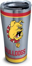 Tervis 1297932 Ferris State Bulldogs Tradition Insulated Tumbler with Clear and Black Hammer Lid, 20 oz Stainless Steel, Silver