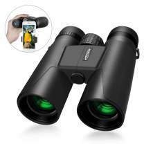 Compact Binoculars 10x42 with Low Light Night Vision, iKALULA Large Eyepiece Waterproof Binocular for Adult & Kids,High Power Easy Focus Binoculars for Bird Watching,Outdoor Hunting,Travel,Sightseeing