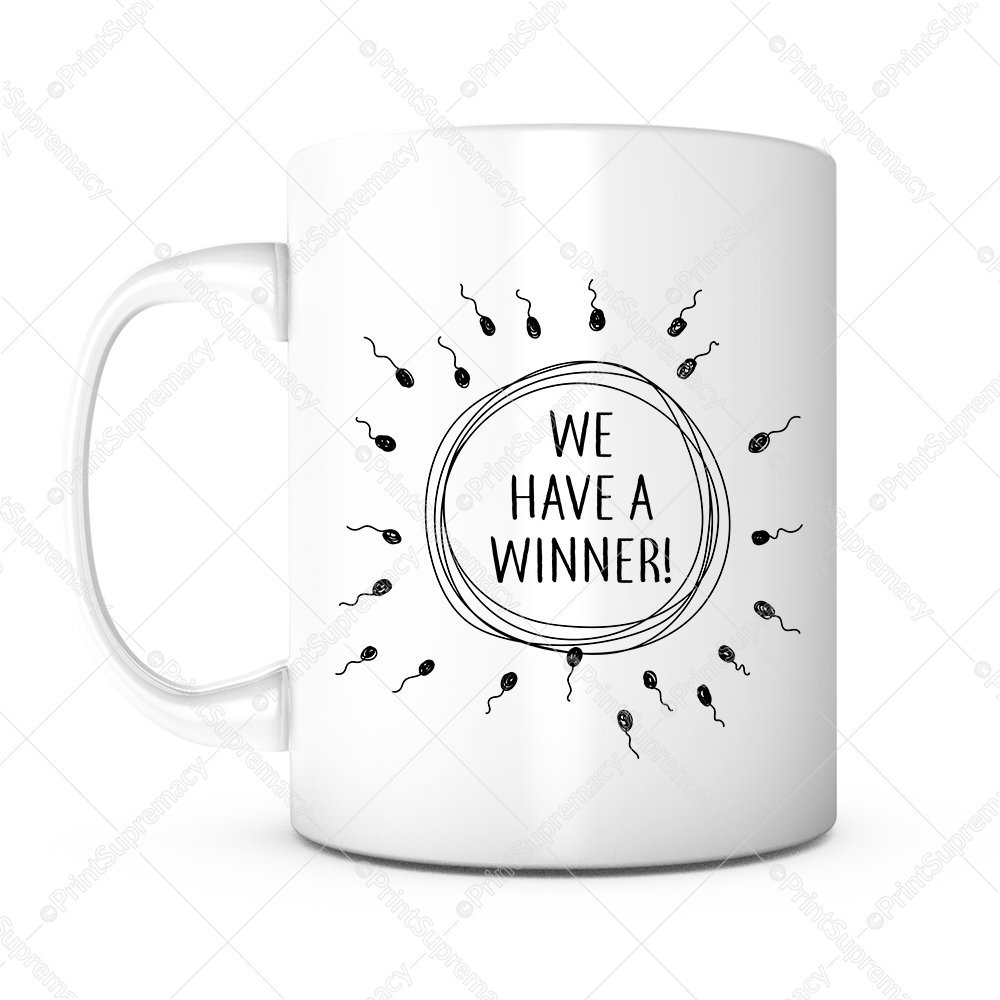 We Have A Winner-Baby Shower Gifts,Baby Announcement,Funny Coffee Mug,Congratulations Gift,Husband Gifts,Expecting Mom Gift,Coming Soon,Fatherhood,I'm Pregnant,Pregnancy Reveal,IVF Gift,New Daddy Gift