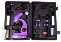 Levenhuk Rainbow 50L Amethyst Lightweight Student Microscope (40-800x) with Experiment Kit and Storage Case