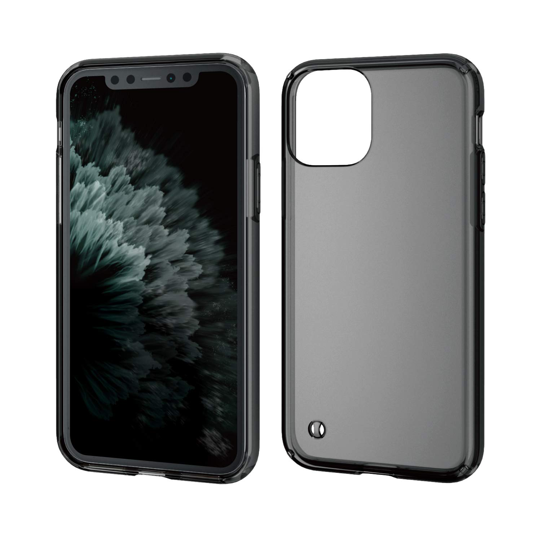 ELECOM Premium Hybrid Case/Compatible with iPhone 11 Pro/Transparent/Full Protection/Slim Black PM-A19BHVCBK