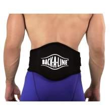 Back-A-Line Sport Belt with Orthopedic Lumbar Pad (Medium, Black with logo)