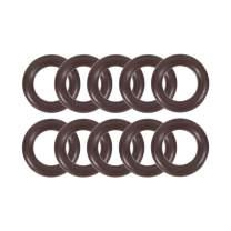 uxcell Fluorine Rubber O-Rings 12mm OD 7mm ID 2.5mm Width FKM Seal Gasket Brown 10pcs