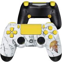 HexGaming HEX Spike Controller 2 Mappable Back Buttons & Replaceable Thumbsticks & Triggers Stop for PS4 Controller Customized Game Controller PC Wireless FPS Gamepad- Marbled Morale