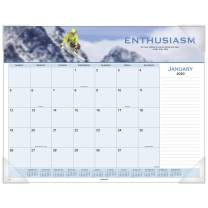 "AT-A-GLANCE 2020 Desk Calendar, Desk Pad, 21-3/4"" x 17"", Standard, Panoramic, Motivational (89801)"
