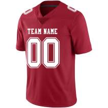 Custom Football Jerseys Design Your Own Practice Mesh T-Shirts Printed & Stitched Your Team, Name and Number