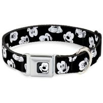 Dog Collar Seatbelt Buckle Alice In Wonderland Kaleidoscope Scenes 15 to 26 Inches 1.0 Inch Wide