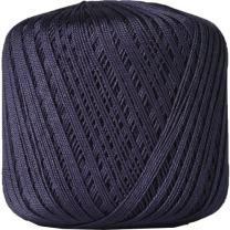 Threadart 100% Pure Cotton Crochet Thread - Size 10 - Color 38 - NAVY -2 sizes 27 colors available