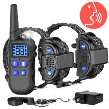 F-color Dog Training Collar, 2020 Upgraded Waterproof Collar for 2 Dogs with Remote 2600FT, 4 Training Modes Rechargeable Dog Collar with Removable Contact Points for Small Medium Large Dogs