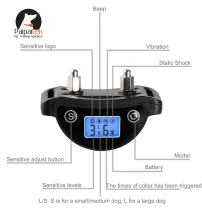 Paipaitek LCD Screen Automatic Dog Anti Bark Collar for Small Medium and Large Dogs Training with Reflective Belt Rechargeable Waterproof Adjustable Beep Vibration Shock Collar 4 Models