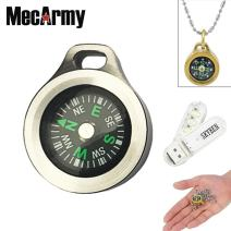 SKYBEN MecArmy CMP Compasses Waterproof Hiking Military Navigation EDC Compass, Designed for Everyday Carry with Chain with USB Light