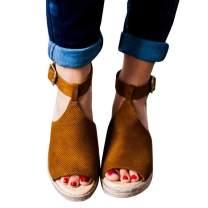 Womens T-Strap Wedge Sandal Adorable Comfort Platform