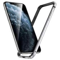 """ESR Bumper Case Compatible for iPhone 11 Pro Max, Metal Frame Armor with Soft Inner Bumper [Zero Signal Interference] [Raised Edge Protection] for iPhone 11 Pro Max 6.5""""(2019), Silver"""