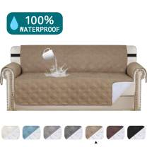 """100% Waterproof Sofa Protector Extra-Wide Couch Cover Non-Slip Oversized Furniture Covers Lounge Covers for Leather Sofa Cover Features Protect from Wear and Tear (Oversize Sofa 78"""",Taupe)"""
