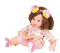 "Gotz Maxy Muffin Daisy Do 16.5"" Soft Baby Doll with Brown Hair and Brown Sleeping Eyes"