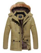 HENGJIA Men's Winter Warm Fleece Lined Coats with Detachable Hooded Windbreaker Jacket