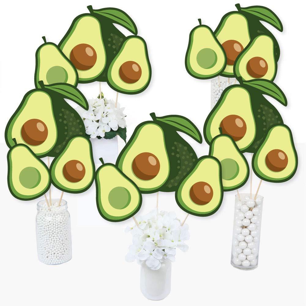 Hello Avocado - Fiesta Party Centerpiece Sticks - Table Toppers - Set of 15
