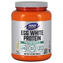 NOW Sports Nutrition, Egg White Protein, 20 G With BCAAs, Creamy Vanilla Powder, 1.5-Pound
