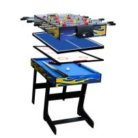 """IFOYO 48"""" Multi Function 4 in 1 Combo Game Table, Steady Soccer Foosball Table, Pool Table, Hockey Table, Table Tennis Table"""