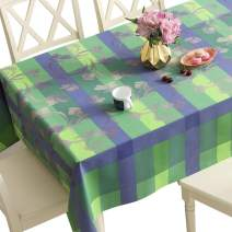 DUOFIRE Vinyl Tablecloth Rectangle Heavy Weight Table Cover Wipe Clean Waterproof (54 x 102 Inch, Color-no.004)