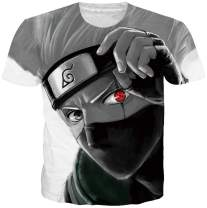 Cooleader Mens Dragon Ball Z T-Shirt Cool Son Goku Shirts 3D Anime Naruto Short Sleeve Tee Tops M-XXL