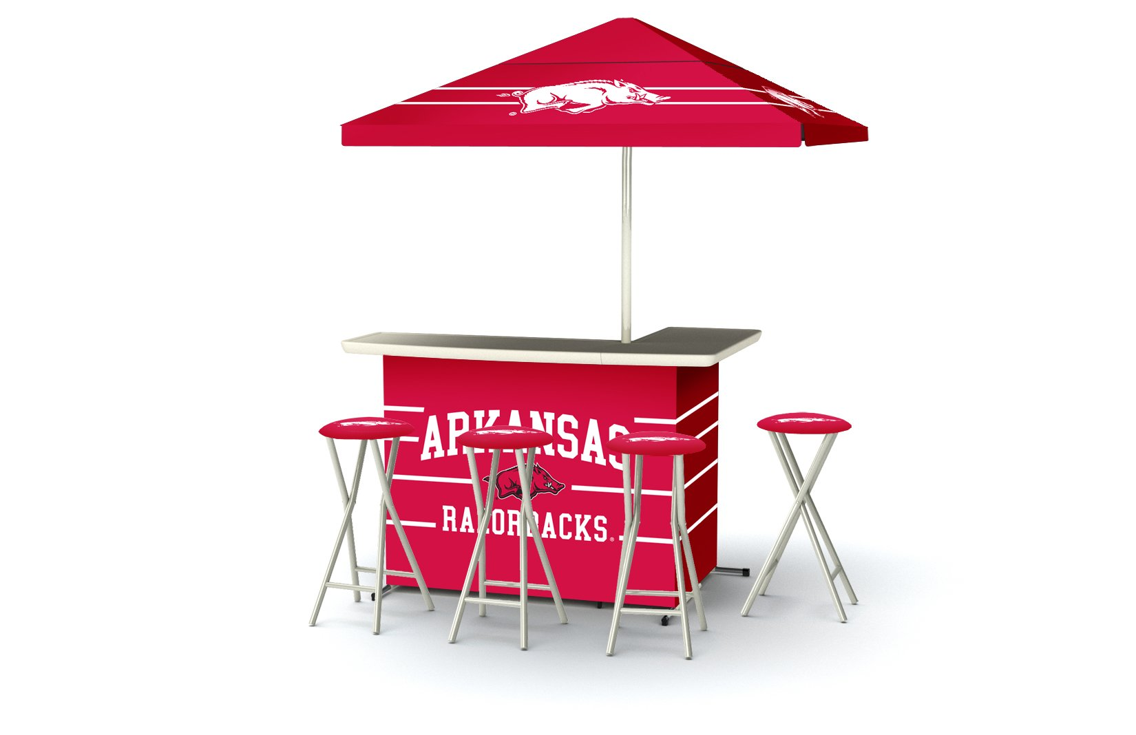 Best of Times Collegiate Patio Bar and Tailgating Center Deluxe Package- Arkansas