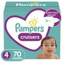 Diapers Size 4, 70 Count - Pampers Cruisers Disposable Baby Diapers, Super Pack (Packaging May Vary)